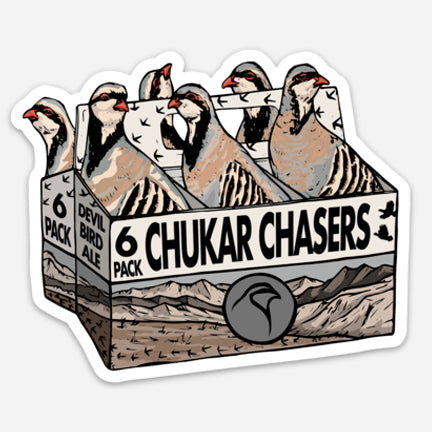 "Chukar Chasers 6-PACK- Decal (4"" x 3.30"")"
