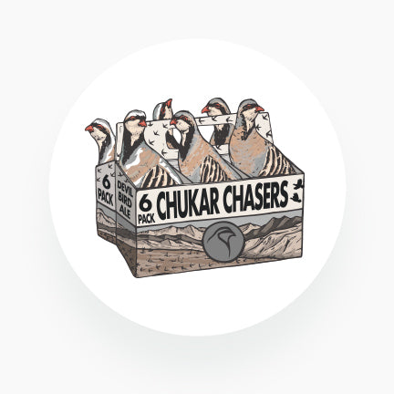 Chukar Chasers 6-PACK- Coasters (Pack of 12)