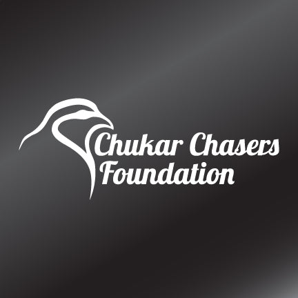 The Chukar Chasers Foundation I Decal - White Vinyl