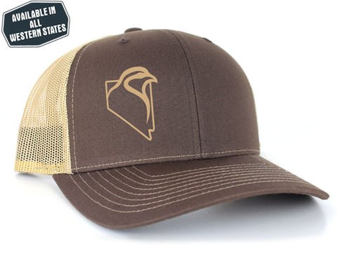 Brown/Khaki Mesh - Tan Vinyl