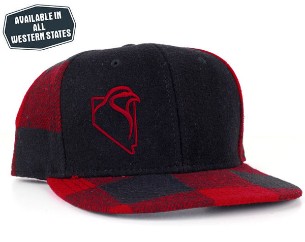 The Chukar Chaser Plaid- Red/Black - Red Embroidery