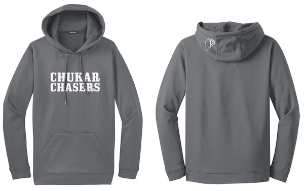 Smoke Grey Polyester Hoodie - Your State Option on the Hood