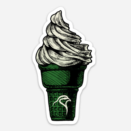 "Chukar Chasers Green Cone- Decal (2.25"" x 4"")"