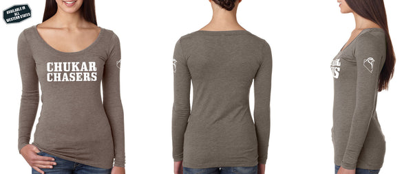 Triblend Long-Sleeve Scoop Tee - Women's