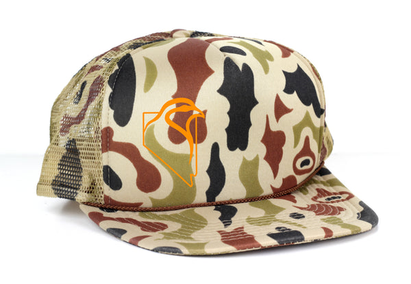 Winter Retro Camo Mesh Trucker