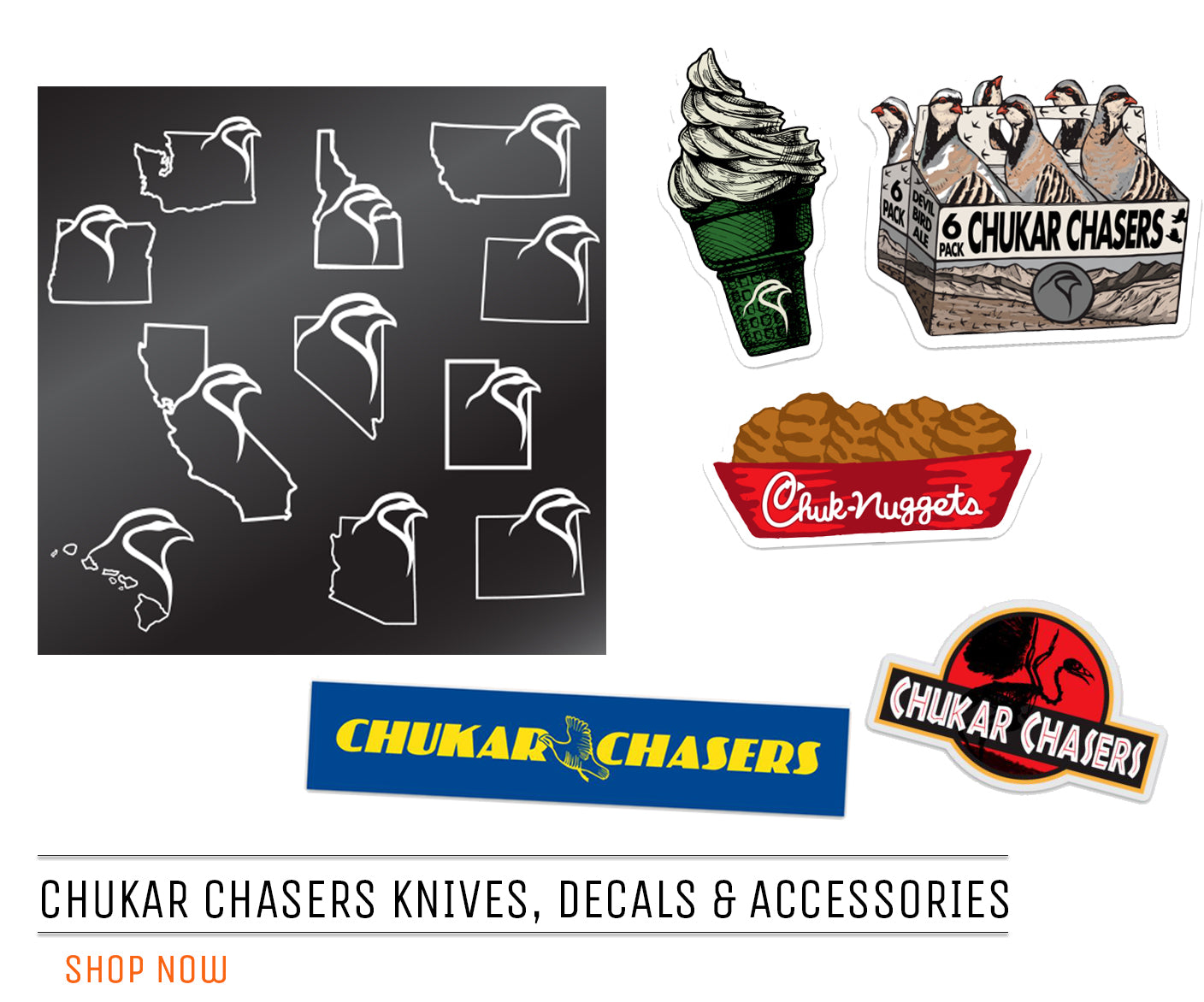 Chukar Chaser Accessories & Decals