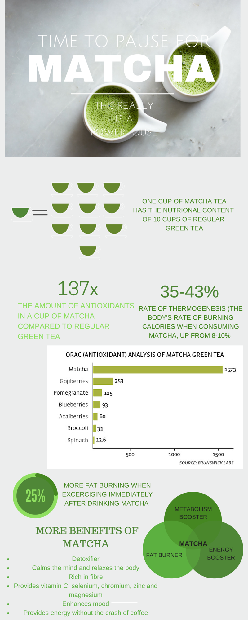 THAT TEA Matcha Infographic