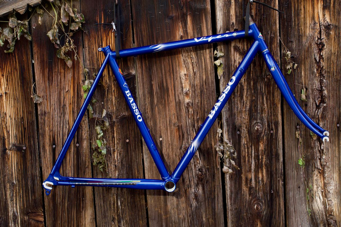 New Basso Viper frame blue with silver flames