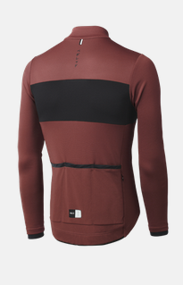 Pedaled: Essential Longsleeve Jersey Bordeaux