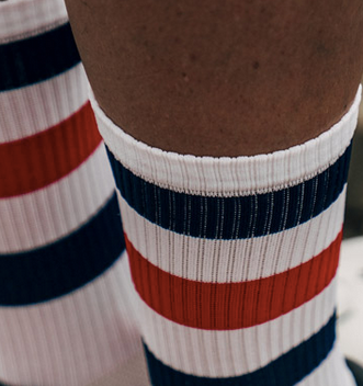 Café du Cycliste Cycling Socks Skate Stripes