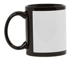 Black Mug with White Patch