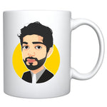 Single Headshot Cartoon Caricature Style Mug