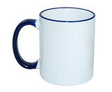 Colored Rim Handle Mug