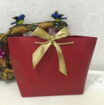 Gift Bag In Red With Cute Ribbon Bow
