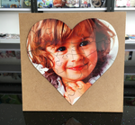 MDF Wood Heart-Shaped Jigsaw Puzzle With Frame