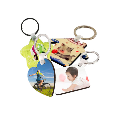 MDF Photo Keychain (4 Shapes Avaliable)