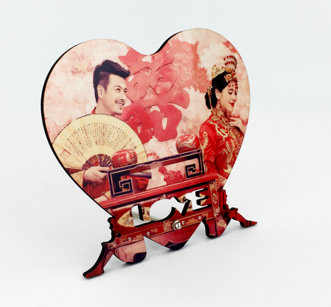 MDF Wood Heart-Shaped Photo Frame