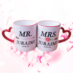 Heart Handle Colored Rim Mug Promotion Offer (2pcs)