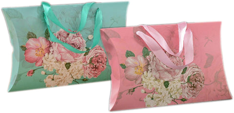Peony Flower Kraft Pillow Gift Box