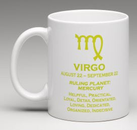 Astrological Star Sign Personalised Coffee Cup Mug Valley