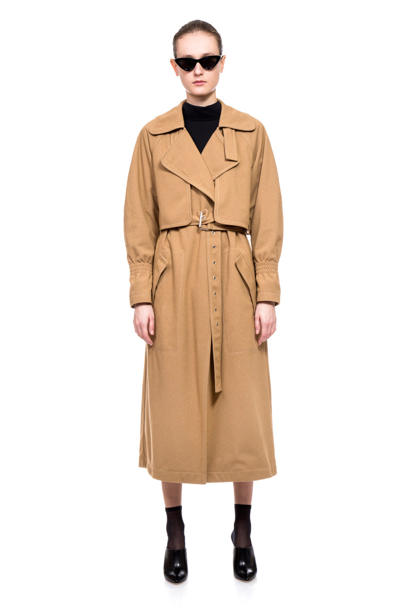 Camel Kelly Trench Coat