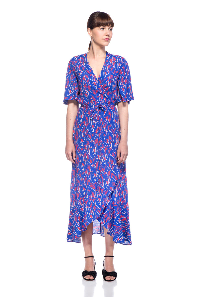 Blue Printed Eva Dress