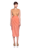 Coral Marseille Wrap Skirt
