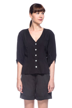 Black Anna Blouse