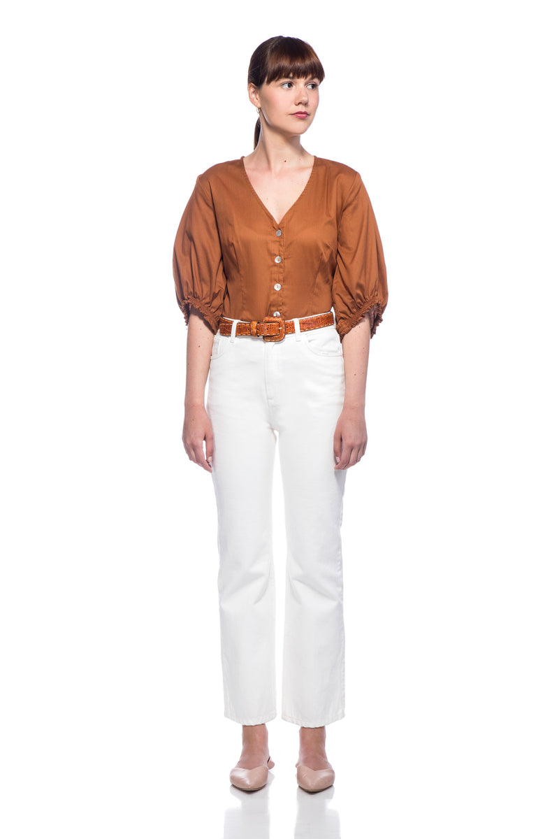 Rust Anna Blouse