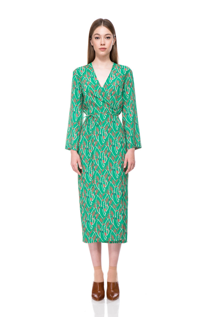 Lana Printed Wrap Dress