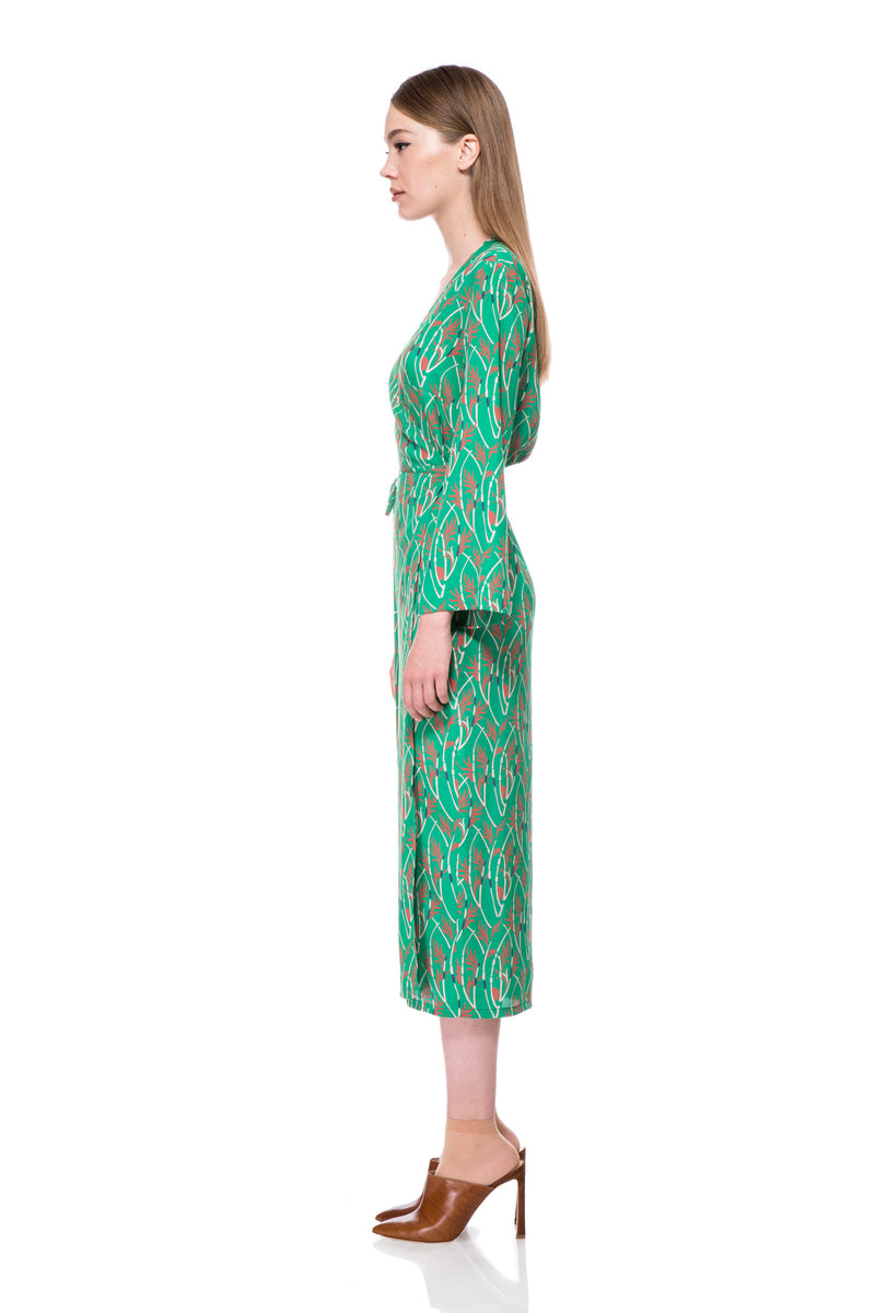 Green Printed Lana Dress