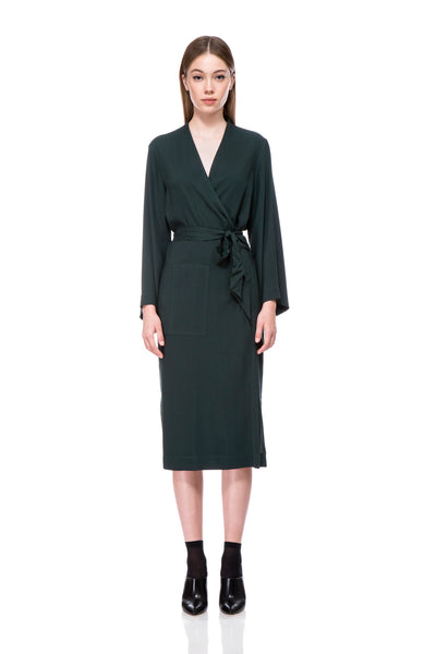 Olive Lisa Wrap Dress