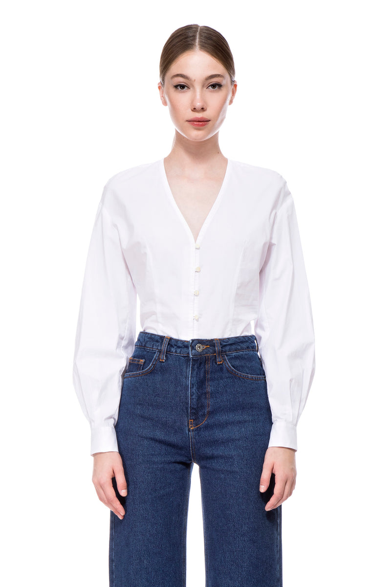 The White Lily Rose Blouse