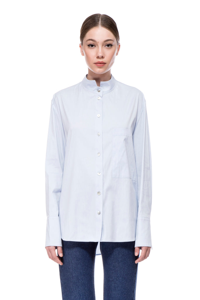 Light Blue Pola Blouse 19