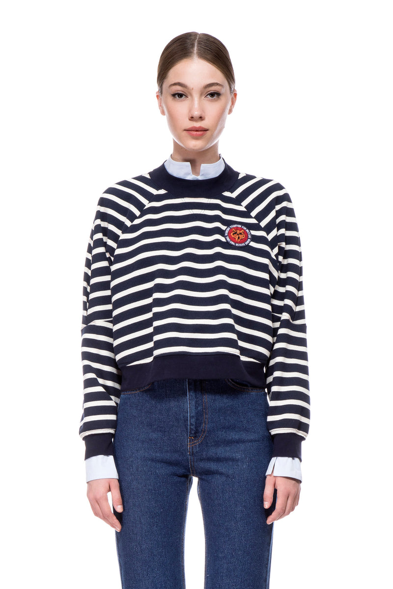 Striped cropped Sweatshirt