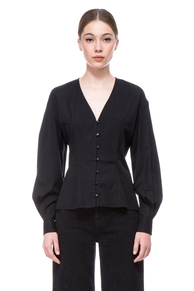 The Black Lily Rose Blouse