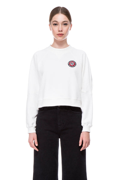 White Shira cropped Sweatshirt