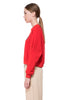 Red Shira cropped Sweatshirt