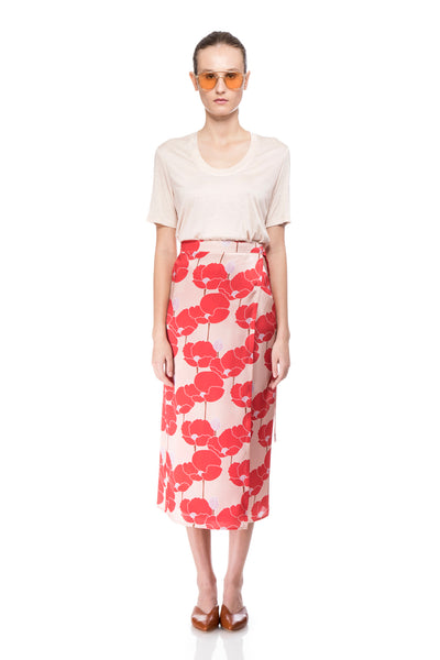 Karly printed Silk Skirt
