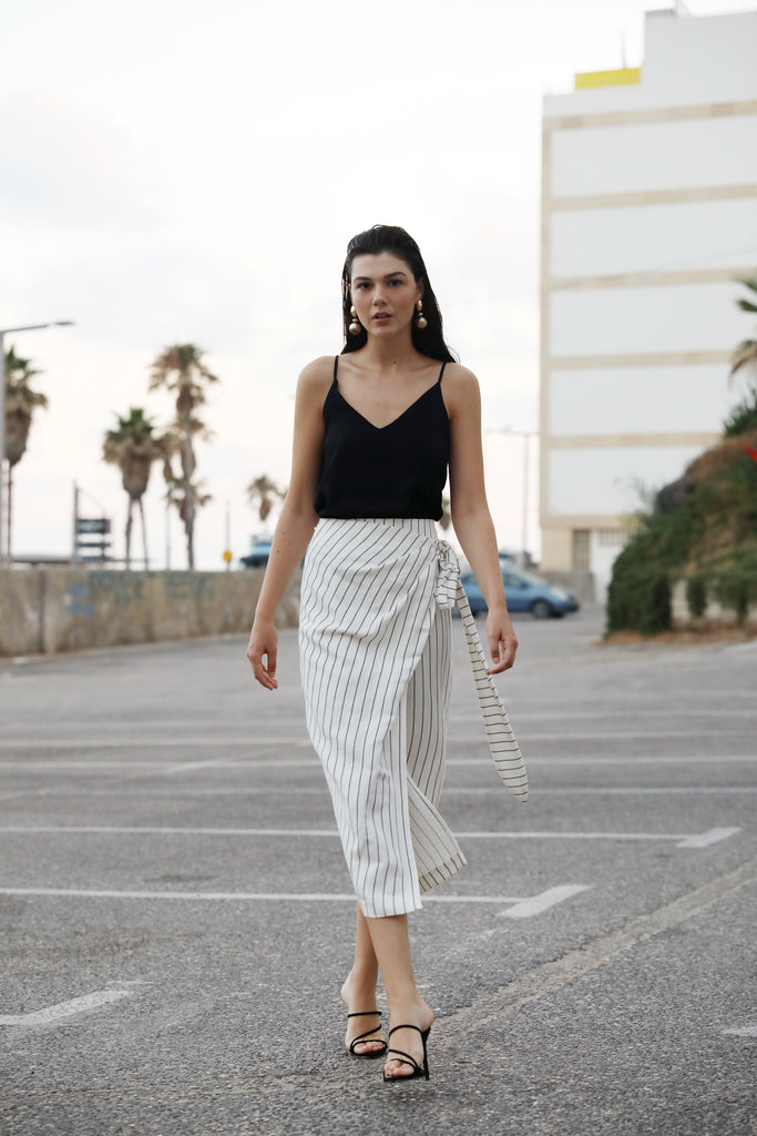 Stripes Marseille Wrap Skirt