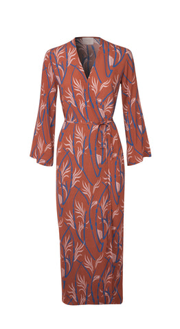 Brown Printed Lana  Dress