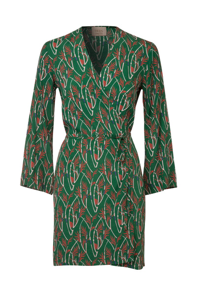 Green printed Lana Mini Dress