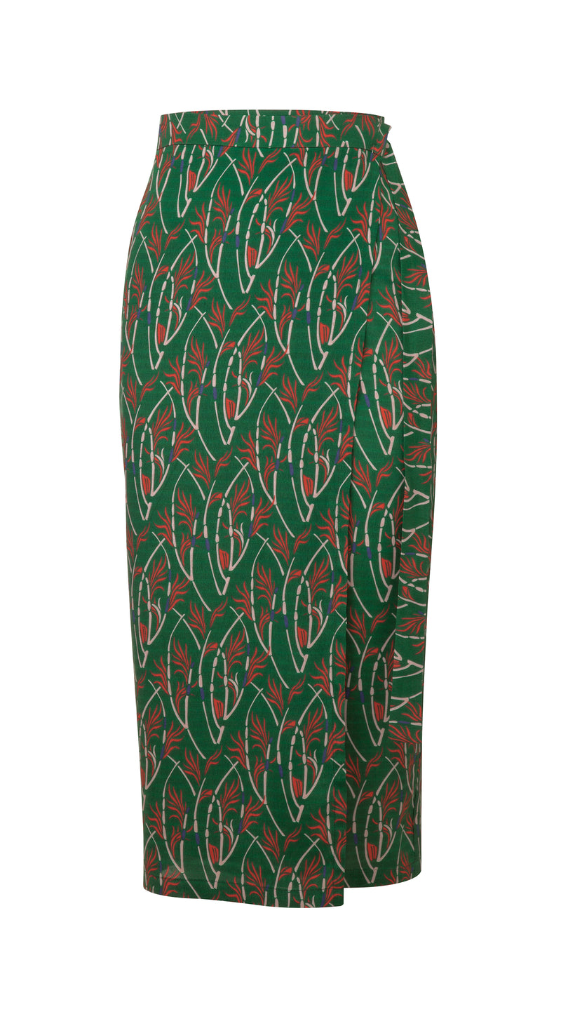 Green Karly printed Skirt