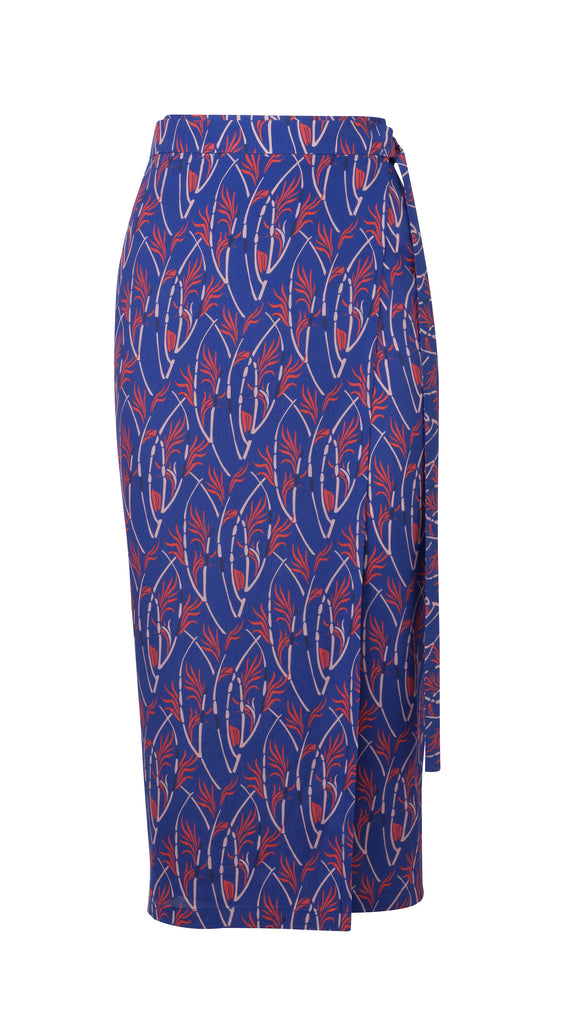 Blue Karly printed Skirt