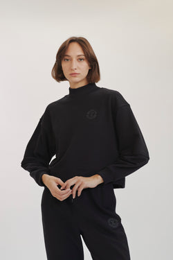 Black Cropped Sweatshirt X Story