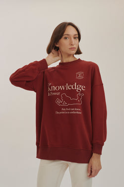 Bordeaux Bookclub Oversize sweatshirt
