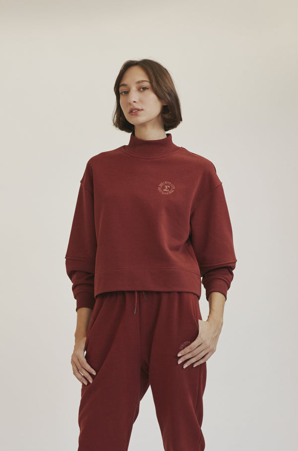 Bordeaux Cropped Sweatshirt X Story