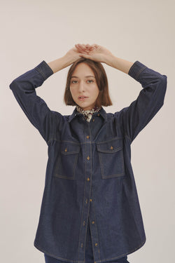 Dark Blue Denim Shirt X Story