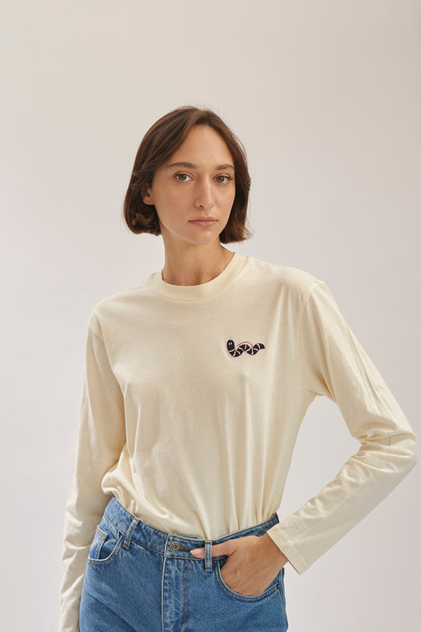 Cream Long T Shirt X Story