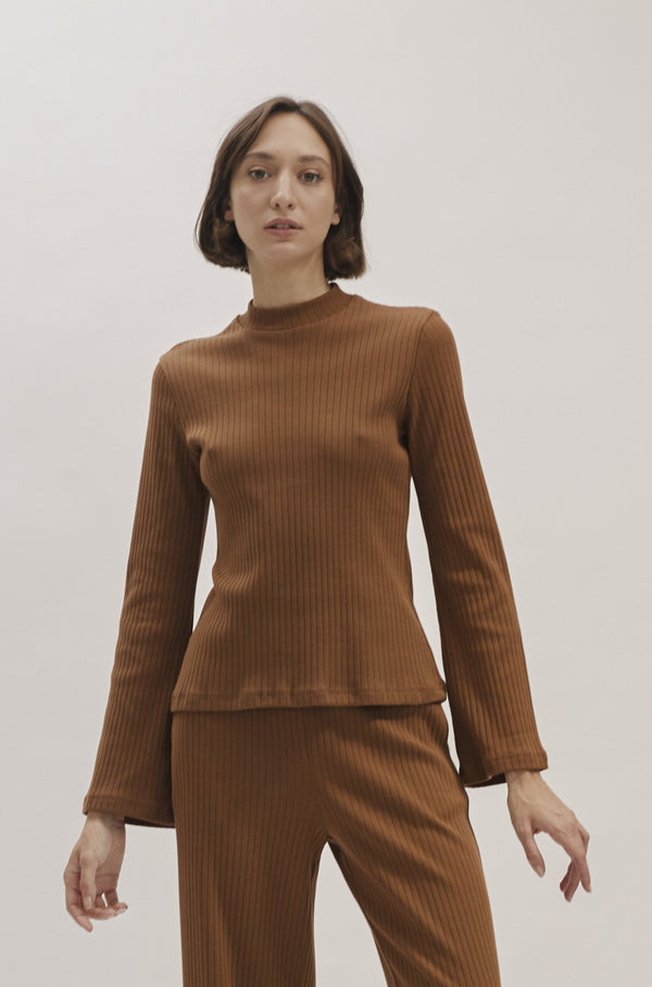 Brown Olivia knitted top